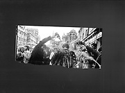 Champagne spraying, Queens Lane, Oxford. 1980, Test strip from the Oxford Box