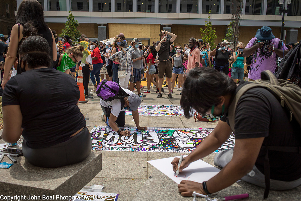 COVID-DAY 85: Protests in DC over the police killing of George Floyd and police brutality Saturday, June 6, 2020. John Boal Photography