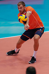 10-08-2019 NED: FIVB Tokyo Volleyball Qualification 2019 / Belgium - Netherlands, Rotterdam<br /> Third match pool B in hall Ahoy between Belgium vs. Netherlands (0-3) for one Olympic ticket / Gijs Jorna #7 of Netherlands