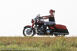 Riding Highway 79 back to Sturgis during the 78th annual Sturgis Motorcycle Rally. Sturgis, SD. USA. Friday August 10, 2018. Photography ©2018 Michael Lichter.