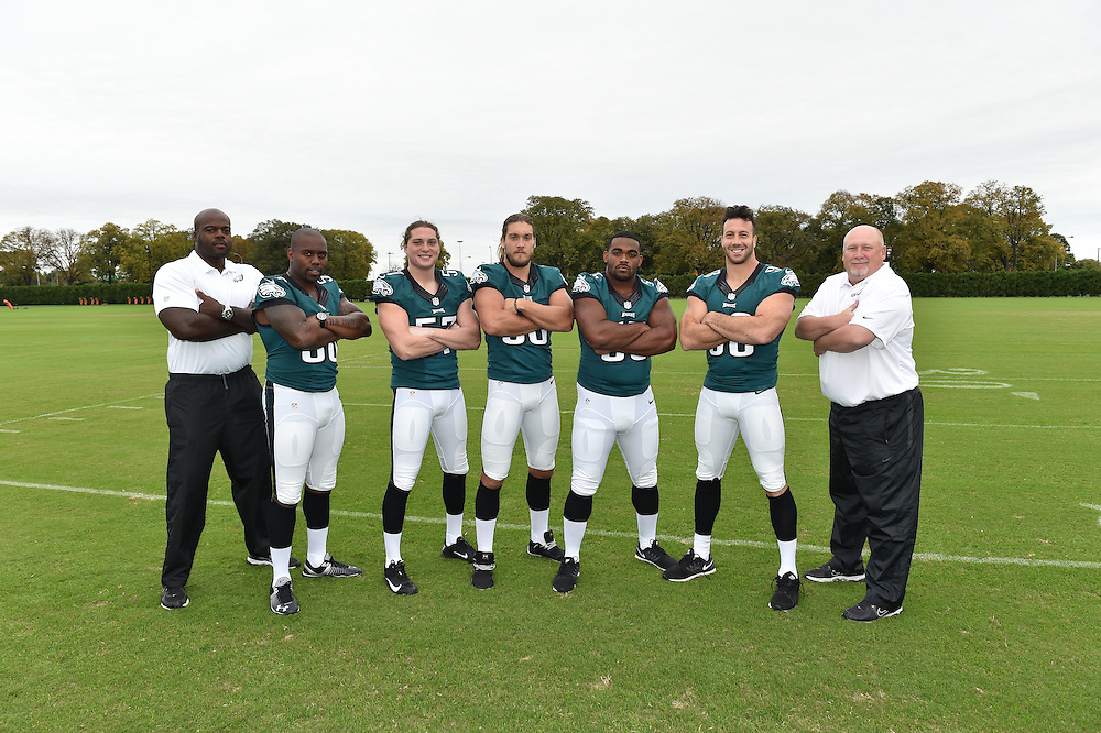 The Philadelphia Eagles pose for the 2014 Team Photo and position photos during at the NovaCare Complex Field on October 13, 2014 in Philadelphia, Pennsylvania. (Photo by Drew Hallowell/Philadelphia Eagles)