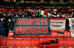 AC Milan fans - Mandatory by-line: Robbie Stephenson/JMP - 15/03/2018 - FOOTBALL - Emirates Stadium - London, England - Arsenal v AC Milan - UEFA Europa League Round of 16, Second leg