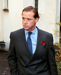 Former Cavalry officer James Hewitt leaves Okehampton Magistrates Court, Devon today (Thursday) after appearing on a drink-driving charge. The case was adjourned until November 14.
