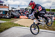 #24 (SHARRAH Corben) USA at Round 4 of the 2019 UCI BMX Supercross World Cup in Papendal, The Netherlands