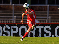 NEWPORT, WALES - Tuesday, June 12, 2018: Wales' Hayley Ladd during the FIFA Women's World Cup 2019 Qualifying Round Group 1 match between Wales and Russia at Newport Stadium. (Pic by David Rawcliffe/Propaganda)