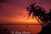 sunrise over Eleuthera as <br /> seen from Spanish Wells, Bahamas<br /> ( Western Atlantic Ocean )