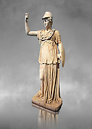 Roman marble sculpture of Athena, inv 6321, Museum of Archaeology, Italy .<br /> <br /> If you prefer to buy from our ALAMY STOCK LIBRARY page at https://www.alamy.com/portfolio/paul-williams-funkystock/greco-roman-sculptures.html- Type -    Louvre    - into LOWER SEARCH WITHIN GALLERY box - Refine search by adding a subject, place, background colour,etc.<br /> <br /> Visit our CLASSICAL WORLD HISTORIC SITES PHOTO COLLECTIONS for more photos to download or buy as wall art prints https://funkystock.photoshelter.com/gallery-collection/The-Romans-Art-Artefacts-Antiquities-Historic-Sites-Pictures-Images/C0000r2uLJJo9_s0c