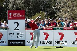November 15, 2018 - Sydney, NSW, U.S. - SYDNEY, AUSTRALIA - NOVEMBER 15: Anirban Lahiri (IND) on the second tee at Day 1 of The Emirates Australian Open Golf on November 15, 2019, at The Lakes Golf Club in Sydney, Australia. (Photo by Speed Media/Icon Sportswire) (Credit Image: © Speed Media/Icon SMI via ZUMA Press)