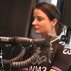 07-02-2017: Wielrennen: Teampresentatie WM3: Eindhoven  <br />EINDHOVEN (NED) cycling<br />At the European Head Quater of Shimano the new WM3 Team with leading lady Marianne Vos was presented. Marianne Vos in thoughts