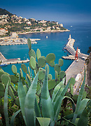 Port du Nice (Nice's port) as seen from above in La Colline du Chateau in Nice, France