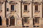 Palazzo de Nobili Tarugi, Palace of the Tarugi Nobles, in Piazza Grande in Montepulciano, Val D'Orcia, Tuscany, Italy
