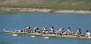 Zagreb, CROATIA.  GBR LM8+. Bow, KITTOE  .Edmund, 2. BROWN James, 3. MIDDLETON Tom, 4. BEECHEY Matthew, 5. MC NIVEN James, 6. MC GARVA .James, 7. LEE Stephen, stroke BAKER Philip, cox, CORMACK Christian  2000 FISA World Rowing Junior & Non-Olympic Seniors Championships   [Mandatory Credit Peter Spurrier/Intersport Images]