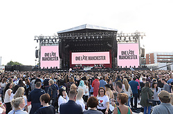 ***FREE FOR EDITORIAL USAGE***BYLINE MUST READ: DAVE HOGAN / ONE LOVE MANCHESTER***STRICTLY NO MERCHANDISING USAGE ALLOWED*** Performers including Ariana Grande, Robbie Williams, Katy Perry, Chris Martin, Miley Cyrus, Niall Horan and Mark Owen perform at the One Love Manchester benefit concert.<br /> <br />5 June 2017.<br /><br />Please byline: DAVE HOGAN / ONE LOVE MANCHESTER