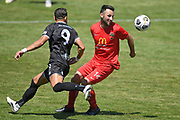 Canterbury United's Sean Liddicoat in action in the Handa Premiership football match, Hawke's Bay United v Canterbury United, Bluewater Stadium, Napier, Sunday, December 06, 2020. Copyright photo: Kerry Marshall / www.photosport.nz