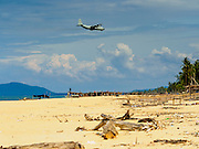 15 JUNE 2105 - BAN THONG, NARATHIWAT, THAILAND:   A military C130 Hercules comes in to land at Narathiwat Airport.     PHOTO BY JACK KURTZ