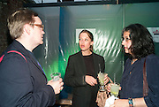 OSSIAN WARD; RACHEL KNEEBONE; JASMINE BHANJI;  , The Surreal House Barbican art gallery afterwards SURREAL DINNER at Hoxton hall. London. 9 June 2010. -DO NOT ARCHIVE-© Copyright Photograph by Dafydd Jones. 248 Clapham Rd. London SW9 0PZ. Tel 0207 820 0771. www.dafjones.com.