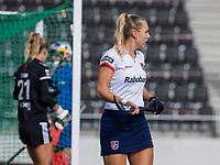 AMSTELVEEN - Kyra Fortuin (SCHC)   tijdens de hoofdklasse hockeywedstrijd dames, zonder publiek vanwege COVID-19, AMSTERDAM-SCHC (2-2). COPYRIGHT KOEN SUYK
