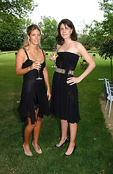Left to right, MISS GEORGINA DOWNIE and LADY LAURA CATHCART at the Game Conservancy Jubilee Ball in aid of the Game Conservancy Trust held at The Hurlingham Club, London SW6 on 26th May 2005<br />