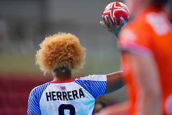03-12-2019 JAP: Netherlands - Cuba, Kumamoto<br /> Third match 24th IHF Women's Handball World Championship, Netherlands win the third match against Cuba with 51- 23. / Arisleidy Marquez Herrera #8 of Cuba