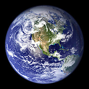 Satellite view of the Earth (north America) from space.