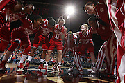 CHARLOTTESVILLE, VA- December 1: The Indiana Hoosiers huddles before the game against the Virginia Cavaliers on December 1, 2011 at the John Paul Jones Arena in Charlottesville, Virginia. Virginia defeated Indiana 65-49. (Photo by Andrew Shurtleff/Getty Images) *** Local Caption ***