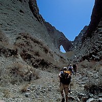 CHINA, Xinjiang Province.  Expedition (MR) enroute to first ascent of huge Shipton's Arch in Kara Tagh Mts. near Kashgar.
