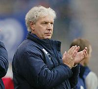 Fotball 25. september 2003, Bundesliga, Klaus Toppmoeller ,trainer Hamburg SV- Bundesliga Hamburger SV - FC Schalke 04