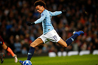 Football - 2018 / 2019 UEFA Champions League - Group F: Manchester City vs. 1899 Hoffenheim<br /> <br /> Leroy Sane of Manchester City scores his second goal at The Etihad.<br /> <br /> COLORSPORT/LYNNE CAMERON