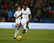 Sammy Ameobi of Bolton Wanderers in action. EFL Skybet championship match, Cardiff city v Bolton Wanderers at the Cardiff city Stadium in Cardiff, South Wales on Tuesday 13th February 2018.<br /> pic by Andrew Orchard, Andrew Orchard sports photography.