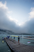 Aiguebelette, FRANCE,   General View of teh boating area at the  2015 FISA World Rowing Championships, Venue, Lake Aiguebelette - Savoie. <br /> <br /> Friday  04/09/2015  [Mandatory Credit. Peter SPURRIER/Intersport Images]. © Peter SPURRIER, Atmospheric, Rowing