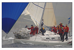The second days racing at the Bell Lawrie Yachting Series in Tarbert Loch Fyne ...Strong winds, high seas and heavy rain dominated the day...GBR8920T J109 Jeronimo from Port Edgar and racing in Class 2..