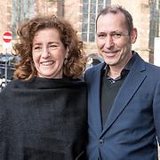 NLD/Naarden/20180330 - Matthaus Passion in de grote kerk van Naarden 2018, Ingrid van Engelshoven, minister van Onderwijs, Cultuur en Wetenschappen en partner