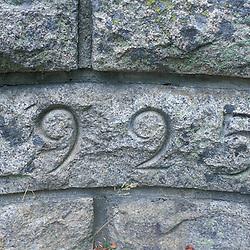 Detail from Waterfall Bridge, built in 1925.  Carriage Roads. Acadia N.P., ME