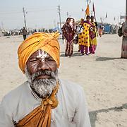 Allahabad 2007 01 30 Kumbh Mela <br /> Porträtt av en gammal helig man<br /> ----<br /> FOTO : JOACHIM NYWALL KOD 0708840825_1<br /> COPYRIGHT JOACHIM NYWALL<br /> <br /> ***BETALBILD***<br /> Redovisas till <br /> NYWALL MEDIA AB<br /> Strandgatan 30<br /> 461 31 Trollhättan<br /> Prislista enl BLF , om inget annat avtalas.