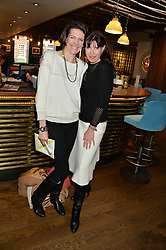 Left to right, THOMASINA MIERS and RONNIE ANCONA at a ladies lunch hosted by Thomasina Miers was held at her restaurant Wahaca, 19-23 Charlotte Street, London W1 on 10th January 2014.