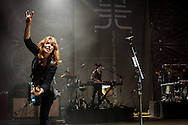 Guitarist Nancy Wilson of Heart performs at the Lilith Fair in Mountain View, California