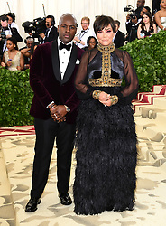 Kris Jenner and Corey Gamble attending the Metropolitan Museum of Art Costume Institute Benefit Gala 2018 in New York, USA. PRESS ASSOCIATION Photo. Picture date: Picture date: Monday May 7, 2018. See PA story SHOWBIZ MET Gala. Photo credit should read: Ian West/PA Wire