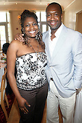 24 June 2010- Miami Beach, Florida- l to r: Nancy Flowers and Jeff Friday at the The 2010 American Black Film Festival Founder's Brunch held at Emeril's on June 24, 2010. Photo Credit: Terrence Jennings/Sipa