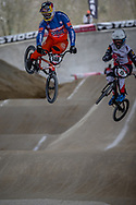 #148 (VAN GENDT Twan) NED at Round 2 of the 2018 UCI BMX Superscross World Cup in Saint-Quentin-En-Yvelines, France.
