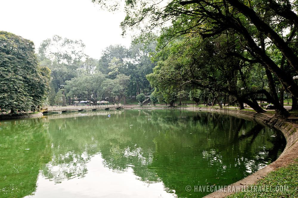 A small lake at the Hanoi Botanical Gardens (Vuon Bach Thao).