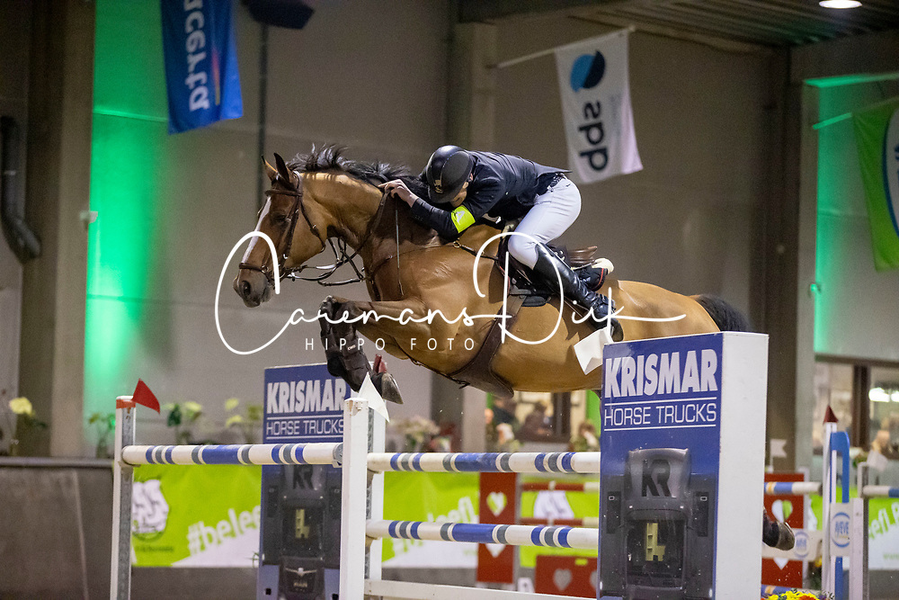 Bossaerts Stef, BEL, F-Magic van de Wilgendreef Z<br /> Nationaal Indoorkampioenschap  <br /> Oud-Heverlee 2020<br /> © Hippo Foto - Dirk Caremans