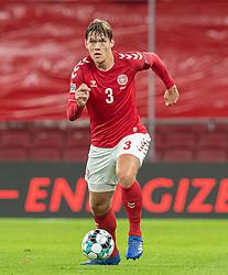 Jannik Vestergaard (Danmark) under kampen i Nations League mellem Danmark og Island den 15. november 2020 i Parken, København (Foto: Claus Birch).