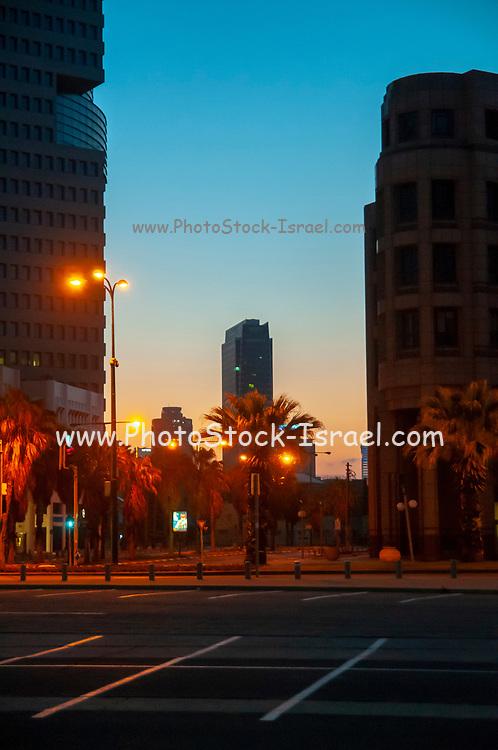 Tel Aviv, Israel. Skyline at dawn