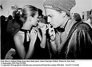 Kate Moss & Johnny Depp. Kate Moss book party. James Danziger Gallery. Prince St. New York. 11 September 1995. Film 95378f2<br />© Copyright Photograph by Dafydd Jones<br />66 Stockwell Park Rd. London SW9 0DA<br />Tel 0171 733 0108