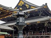 Dai-doro at the entrance of the Founders Hall Gate at the Higashi-Honganji Temple, Kyoyo, Japan