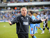 Fotball<br /> England<br /> Foto: Fotosports/Digitalsport<br /> NORWAY ONLY<br /> <br /> Wycombe Wanderers v Notts County Coca Cola League Two 02.05.09 <br /> <br /> Wycombe Wanderers manager Peter Taylor and coaching staff wait to find out if they have won promotion to Coca Cola League One