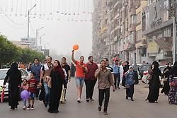 June 25, 2017 - Mansoura, Egypt - Muslims celebrate Eid al-Fitr (break the fast feast) marking the holy month Ramadan in Mansoura, Egypt, on 25 June 2017. (Credit Image: © Mahmood Shahiin/NurPhoto via ZUMA Press)