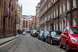 © Licensed to London News Pictures. 21/02/2018. London, UK. Old Pye Street in Westminster, central London, where a 24-year-old man was shot in the head on the evening of Tuesday 20th February 2018. The victim was taken by ambulance to a central London hospital where his condition is critical. Two people were arrested at the scene on suspicion of attempted murder. Photo credit: Rob Pinney/LNP