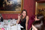 LADY GEORGIA BYNG, Dinner hosted by Elizabeth Saltzman for Mario Testino and Kate Moss. Mark's Club. London. 5 June 2010. -DO NOT ARCHIVE-© Copyright Photograph by Dafydd Jones. 248 Clapham Rd. London SW9 0PZ. Tel 0207 820 0771. www.dafjones.com.