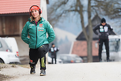 February 8, 2019 - Katharina Althaus of Germany warming up before first competition day of the FIS Ski Jumping World Cup Ladies Ljubno on February 8, 2019 in Ljubno, Slovenia. (Credit Image: © Rok Rakun/Pacific Press via ZUMA Wire)